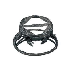 高岡銅器 茶道具 笹カニ蓋置 124-09