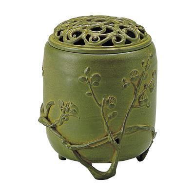 高岡銅器 香炉 名取川雅司作 伝芳文 青銅色 127-05