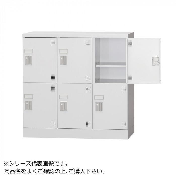 豊國工業 多人数用ロッカーロータイプ 3列2段:深型 シリンダー錠窓付き 棚板付き GLK-S6DSW CN-85色 ホワイトグレー