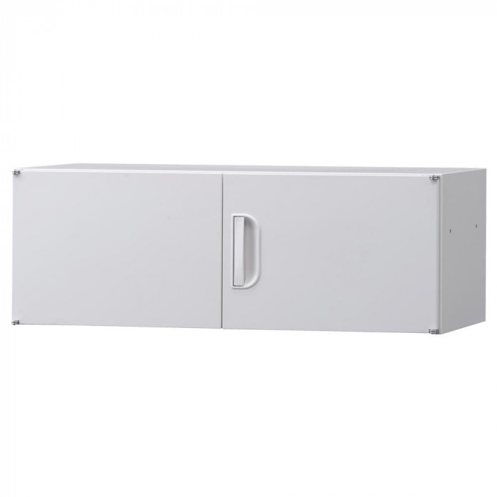 豊國工業 壁面収納庫深型上置き棚H320 ホワイト HOS-U1 BN-90色 ホワイト