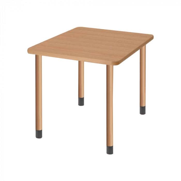 オフィス 施設向け家具 スタンダードテーブル 4本固定脚 ナチュラル UFT-4K9090-NA-L1