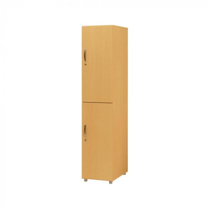 オフィス 施設向け家具 フリージョイントロッカー2段 単体 ナチュラルオーク FLW-NK