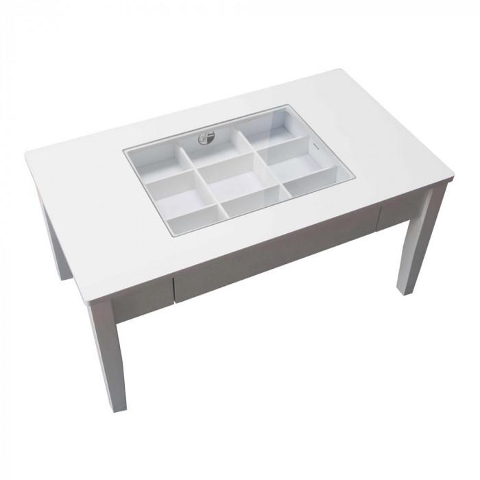 鏡面仕上げのコレクションテーブル LT-902WH ホワイト