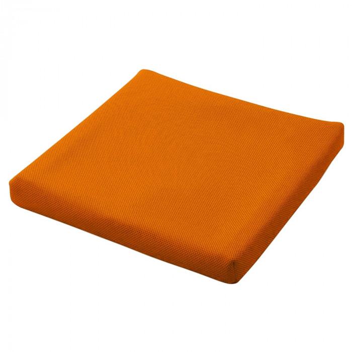 ピタ シートクッション35 通気カバータイプ 立体格子状ジェル 蒸れにくい 車いす オレンジ PT001C