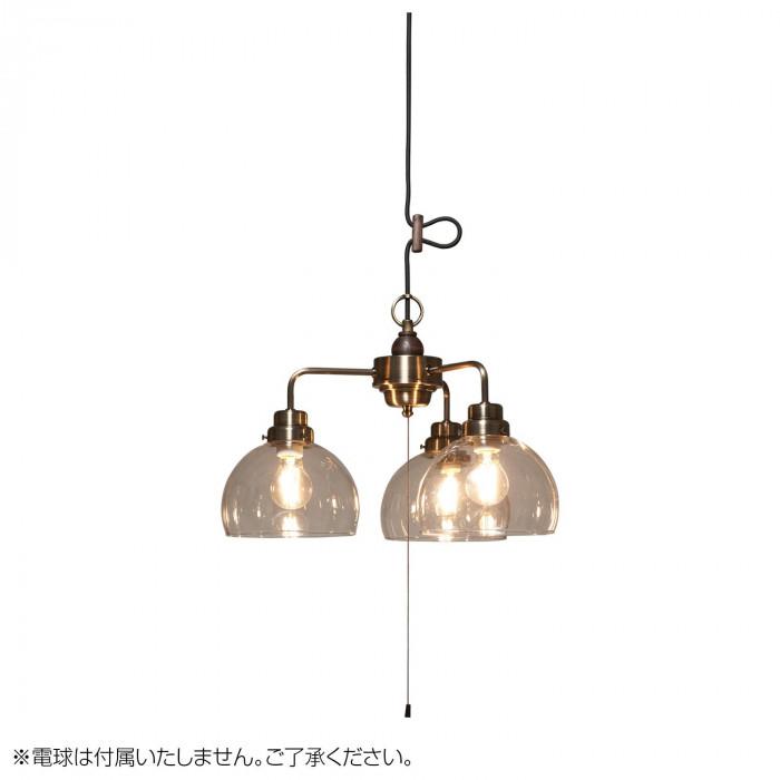 ペンダントライト キグナス 透明鉄鉢 3灯用CP型BR 電球なし GLF-3524BRX GLF-3524BRX