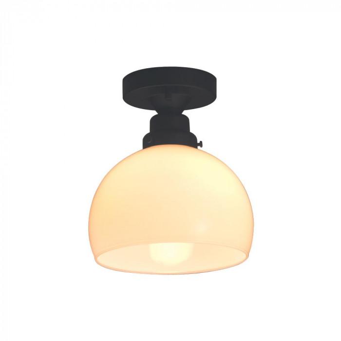 シーリングライト 鉄鉢硝子セード CL型BK 60Wホワイトシリカ球付 GLF-3258 GLF-3258