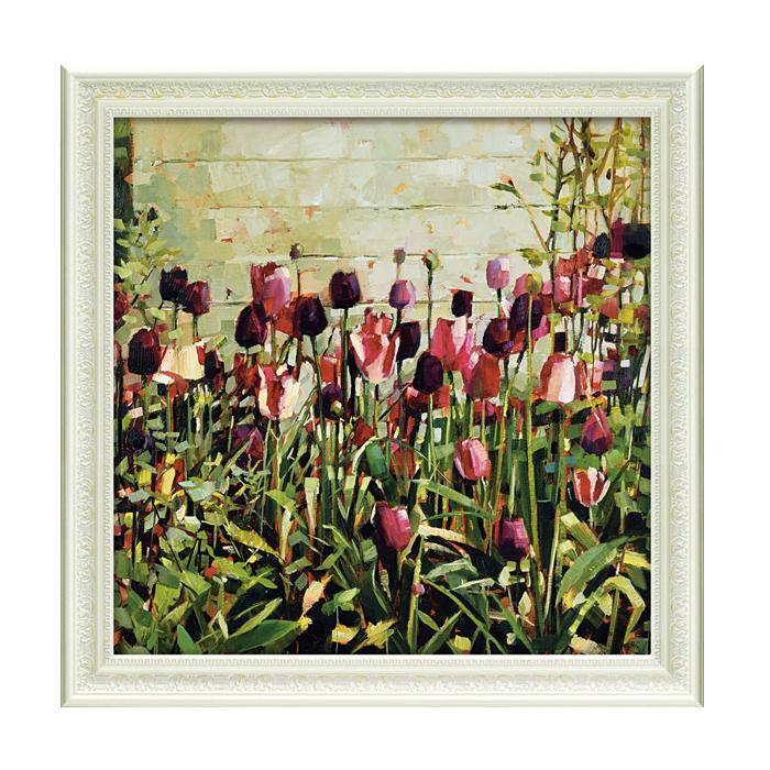 ユーパワー アートフレーム アン マリー バトリン「チューリップ ガーデン」 AB-15004