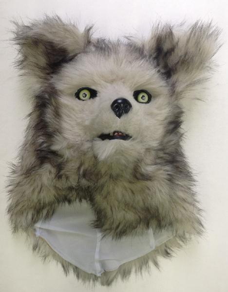 オオカミ かぶりもの マスク パーティ グッズ 被り物 ホワイトウルフマスク