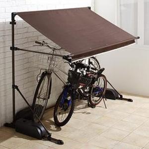 自転車置き場 サイクルガレージ 2台 おしゃれ 屋根付き原付 屋根付き自転車