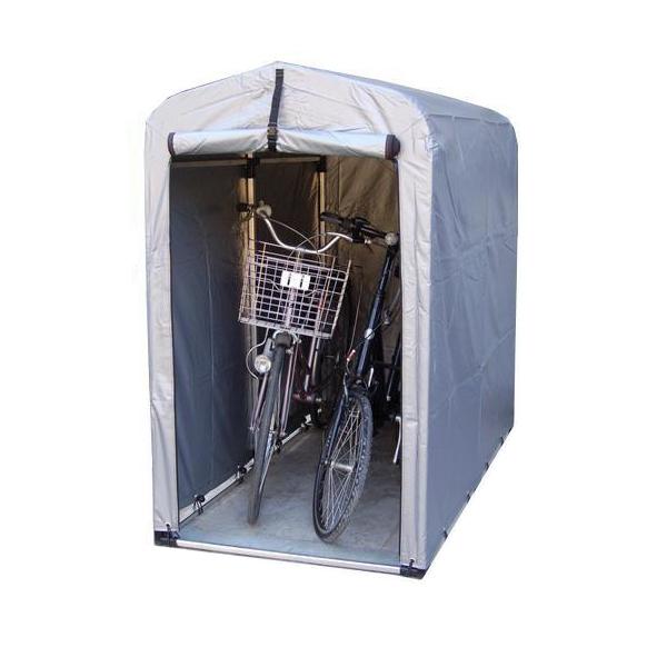 大切な自転車等を雨やホコリから守ります! バイク置き場 テント 簡易自転車置き場 家庭用自転車置き場 二台 テント式