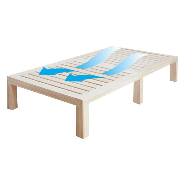 木製すのこベッド シングルベッド シングルサイズ フレームのみ 引出し無し