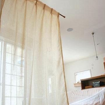 リネンカーテン 2枚組 リネン カーテン 2枚 W100×H178cm