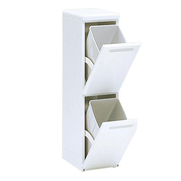 ダストボックス 分別 縦型 二段分別ダストボックス 分別ゴミ箱 スリム 2段