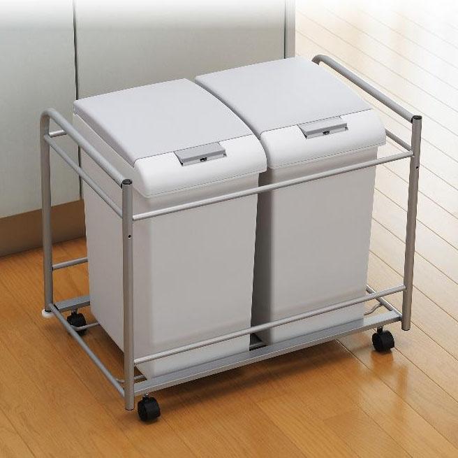 キャスター付きゴミ箱 キャスター付きごみ箱 ゴミ箱 ワゴン ゴミ箱 キャスター
