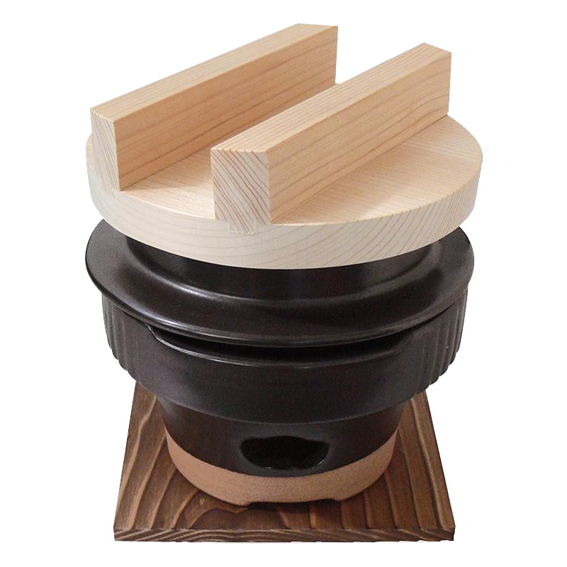 超爆安 ご飯 土鍋 一人用 1合 日本製 陶器お釜 羽釜 ごはん鍋 コンロセット, 開店祝い 2a2b881e