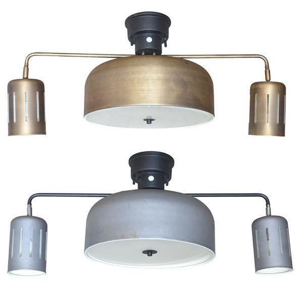 インダストリアル 照明 シーリングライト 天井照明 大 6灯 LED ゴールド