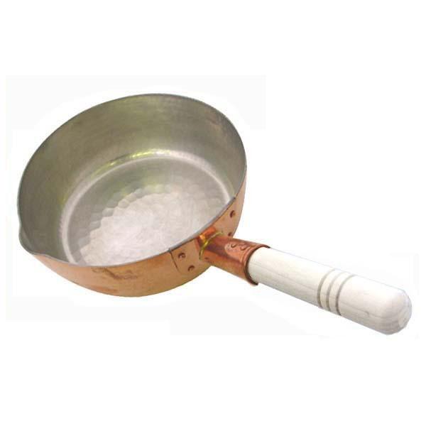 中村銅器製作所 雪平鍋 行平鍋 銅 雪平鍋 日本製 18 銅片手鍋