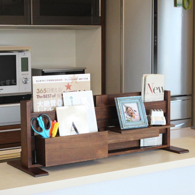 小物をおしゃれに収納 数量は多 キッチンカウンター上 豊富な品 収納 カウンター上収納棚 上 カウンター