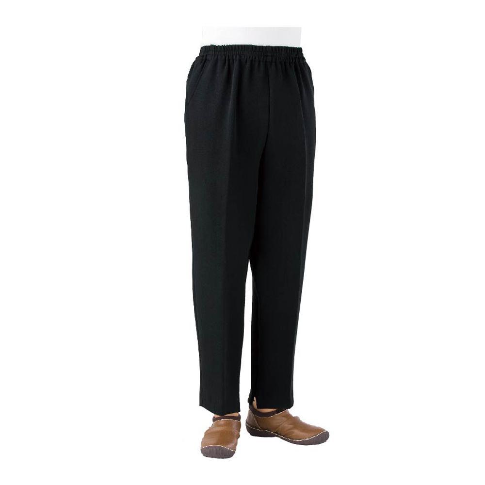 トレヒート裾ファスナーパンツ 婦人 ブラック L 股下60cm 39029-02