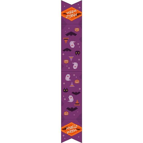 ウェーブペナント Halloween クロスステッチ 紫 40128