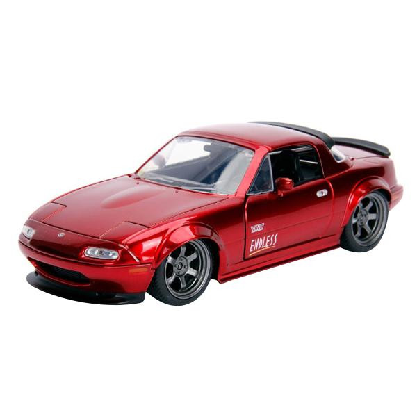 正規輸入品 Jada TOYS ミニカー 1:24 JDM 1990 Mazda Miata Candy Red 19958