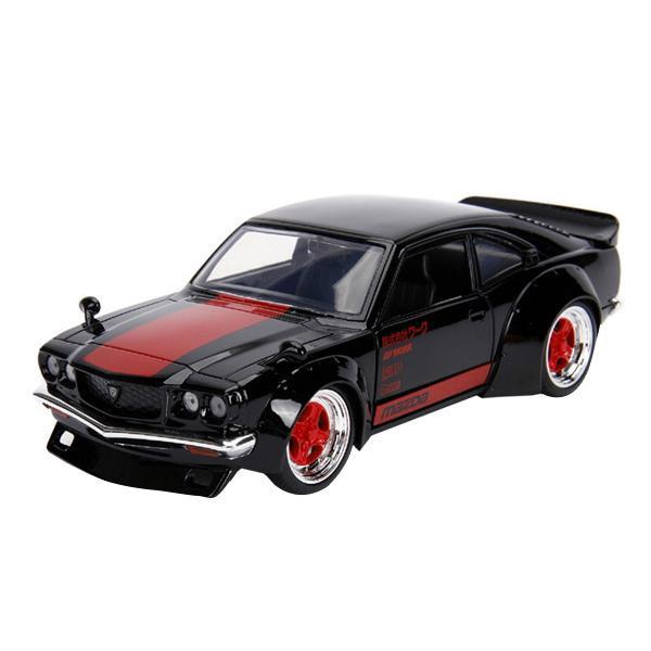 正規輸入品 Jada TOYS ミニカー 1:24 JDM 1974 Mazda RX-3 Glossy Black 19949