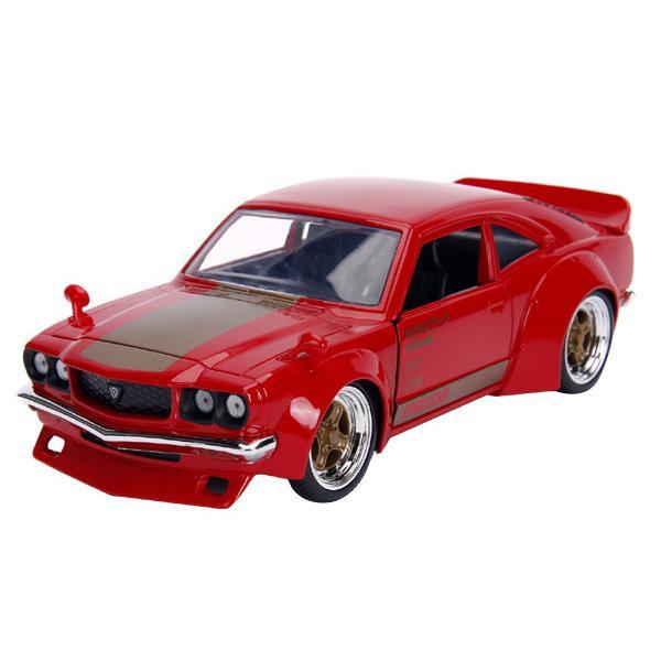 正規輸入品 Jada TOYS ミニカー 1:24 JDM 1974 Mazda RX-3 Glossy Red 19950