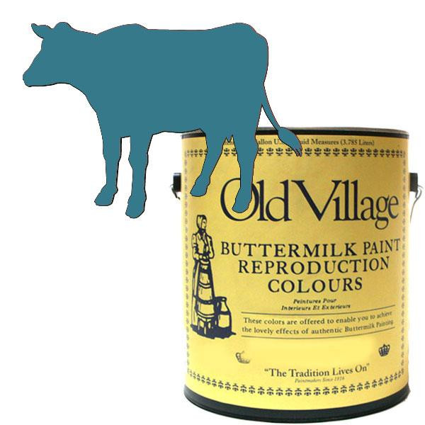 Old Village バターミルクペイント オハイオ カップボード ブルー 3785mL 605-14291 BM-1429G