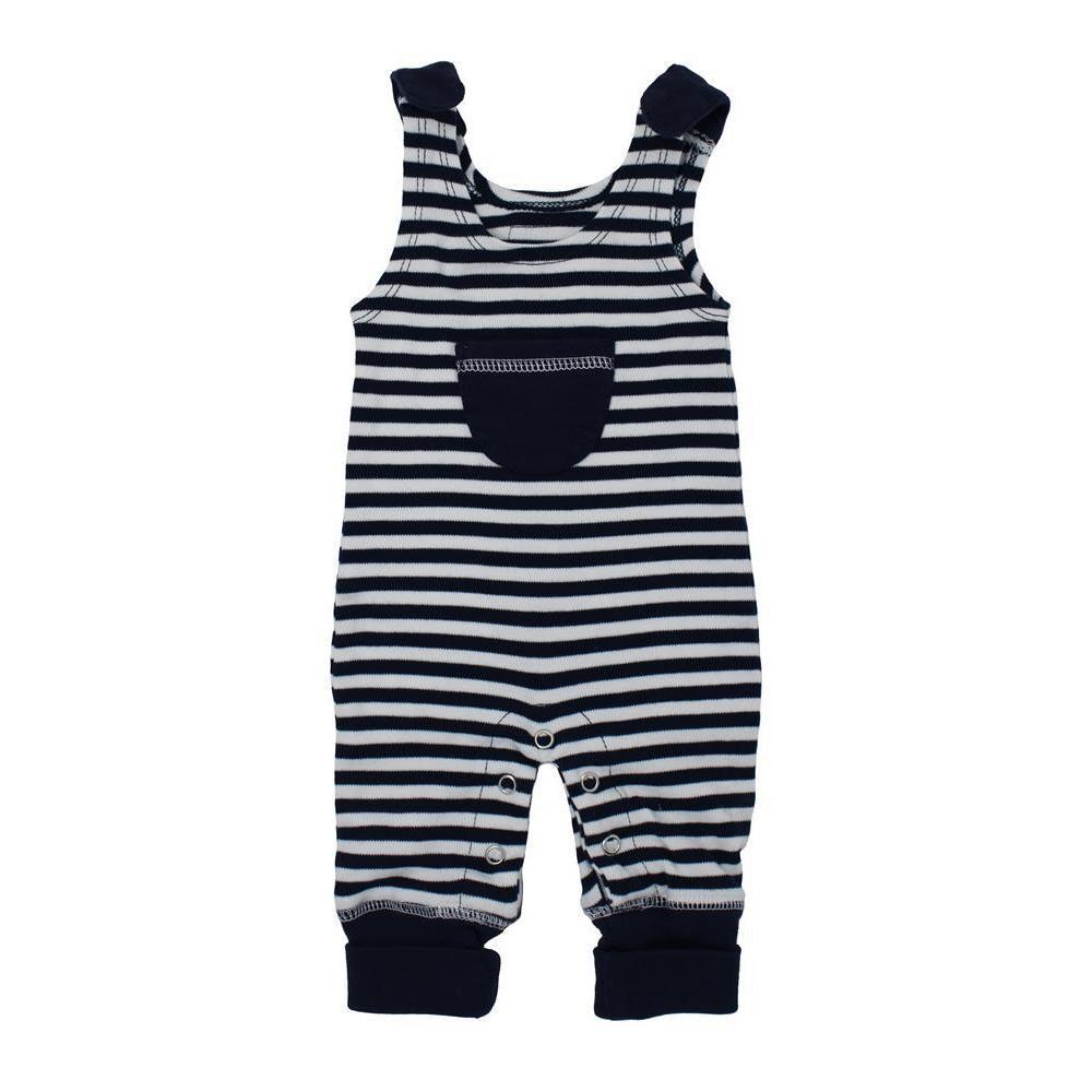L'ovedbaby Stripe-A-Pose Collection キッズ ストライプ ハーレム ロンパー sap-k414 ネイビー/ホワイト・2歳