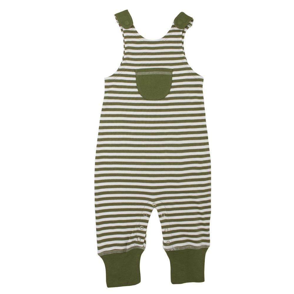 L'ovedbaby Stripe-A-Pose Collection キッズ ストライプ ハーレム ロンパー sap-k414 セージ/ホワイト・3歳