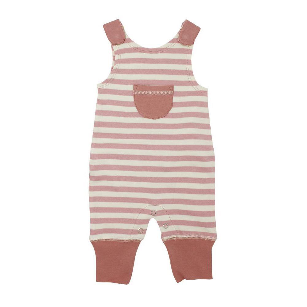 L'ovedbaby Stripe-A-Pose Collection キッズ ストライプ ハーレム ロンパー sap-k414 モーブ/ベージュ・3歳