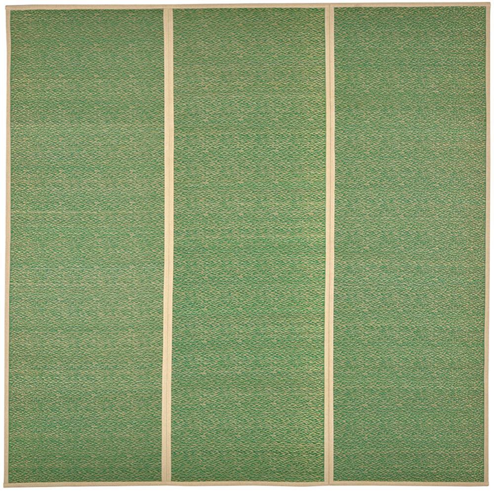 い草センターラグ シャイン 約180×180cm グリーン 81938720