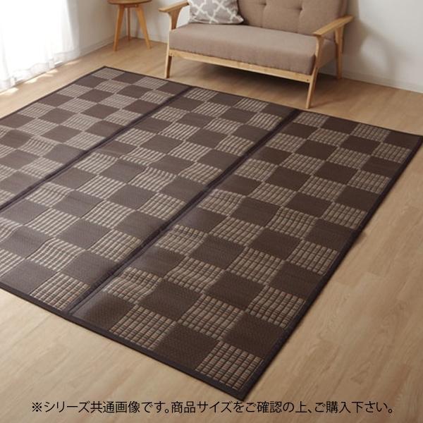 ラグ PPカーペット 『Fウィード』 ブラウン 江戸間6畳 約261×352cm 2126306