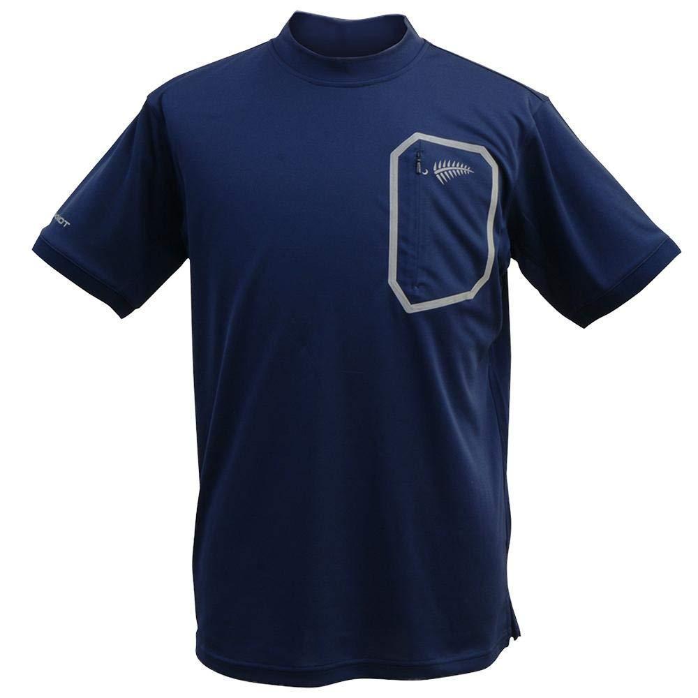 HYOON モックネックシャツ ネイビー Y1518-3L-80