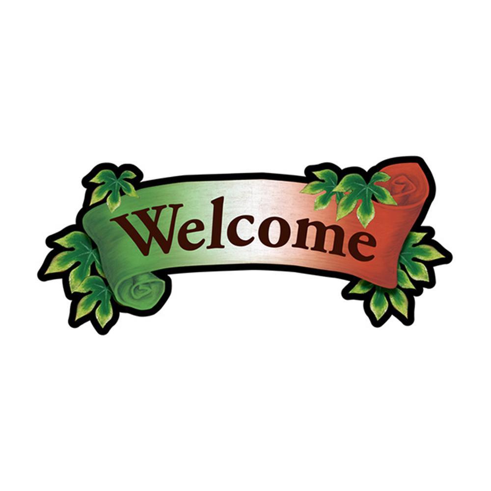 Pデコパネ デコレーションパネル 26893 Welcome イタリアンリボン