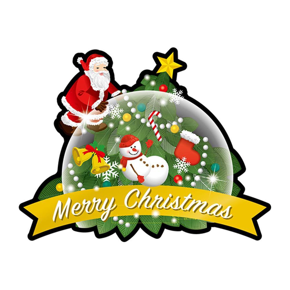 Pデコパネ デコレーションパネル 25844 Merry Christmas スノードーム
