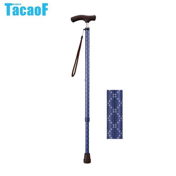 幸和製作所 テイコブ TacaoF 伸縮ステッキ 首細 BOLD EN16 チェッククラシックネイビー