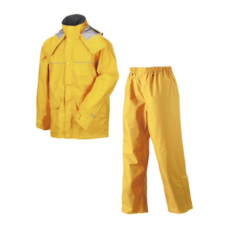 透湿性 レインウェア イエロー ゴルフ レインスーツ 3l 透湿レインスーツ