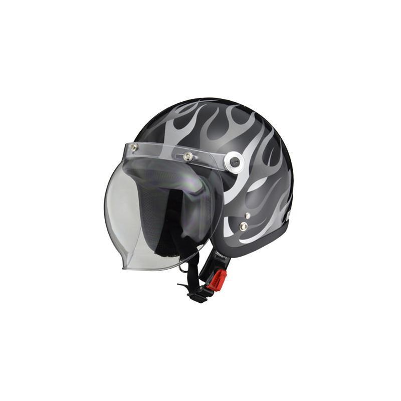 リード工業 BARTON ジェットヘルメット ブラックフレア フリーサイズ BC-10