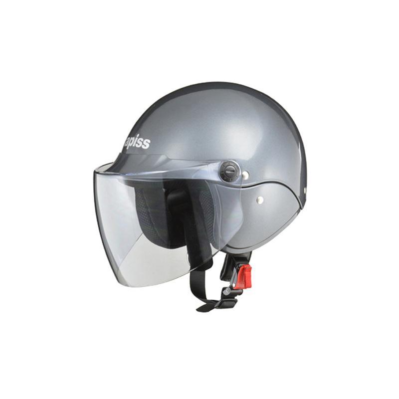 リード工業 apiss セミジェットヘルメット ガンメタリック フリーサイズ AP-603