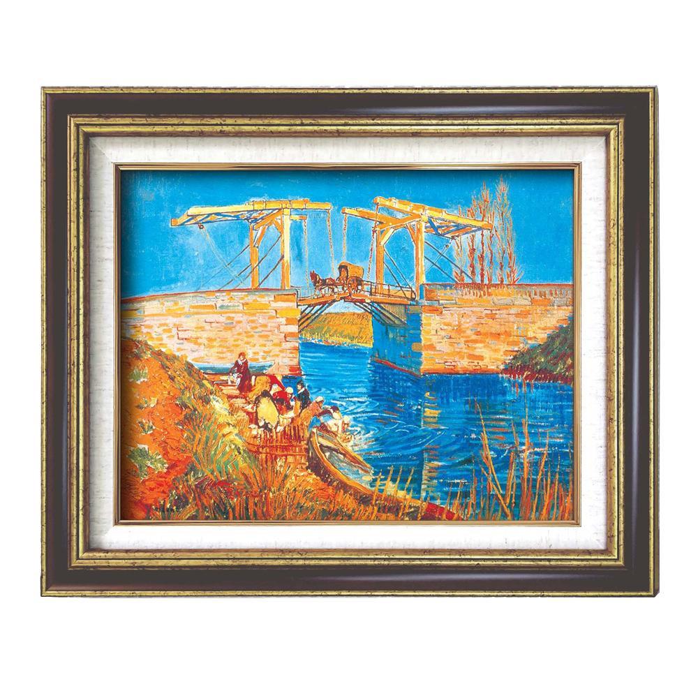 額装品 世界の名画9573 F6 ゴッホ アルルのはね橋 117140