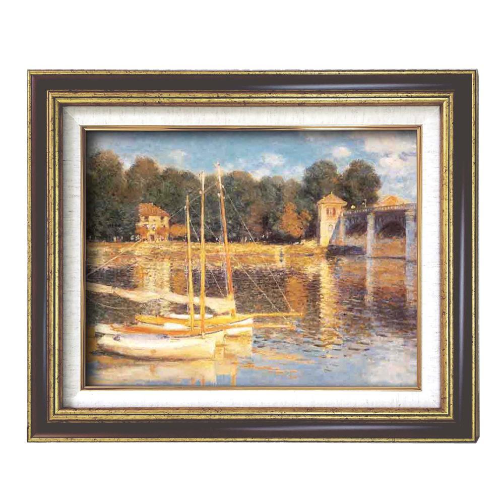 額装品 世界の名画9573 F6 モネ アルジャントーユの橋 117188