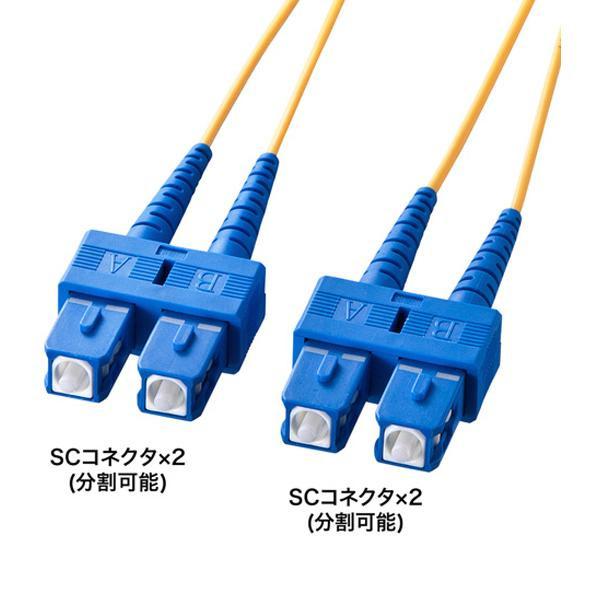 サンワサプライ 光ファイバケーブル 10m HKB-SCSC1-10L