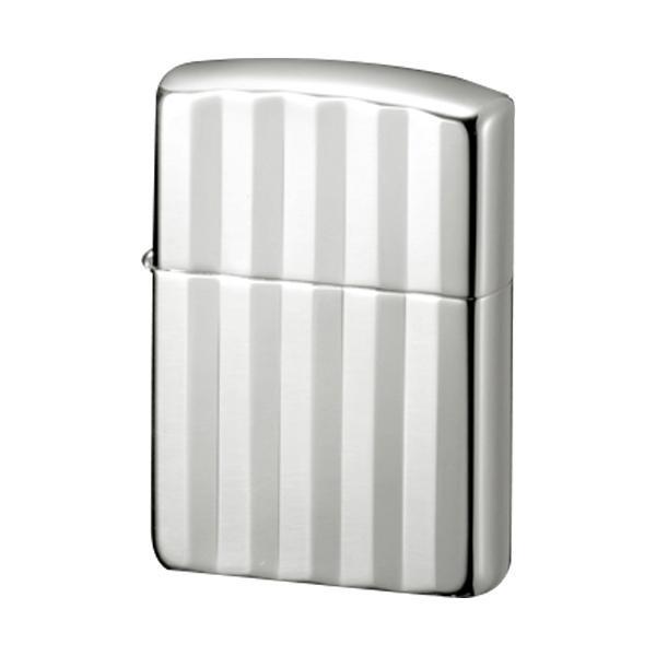 ZIPPO ジッポー オイルライター 銀100ミクロン アーマー・彫刻シリーズ ピンストライプ ♯162 70135