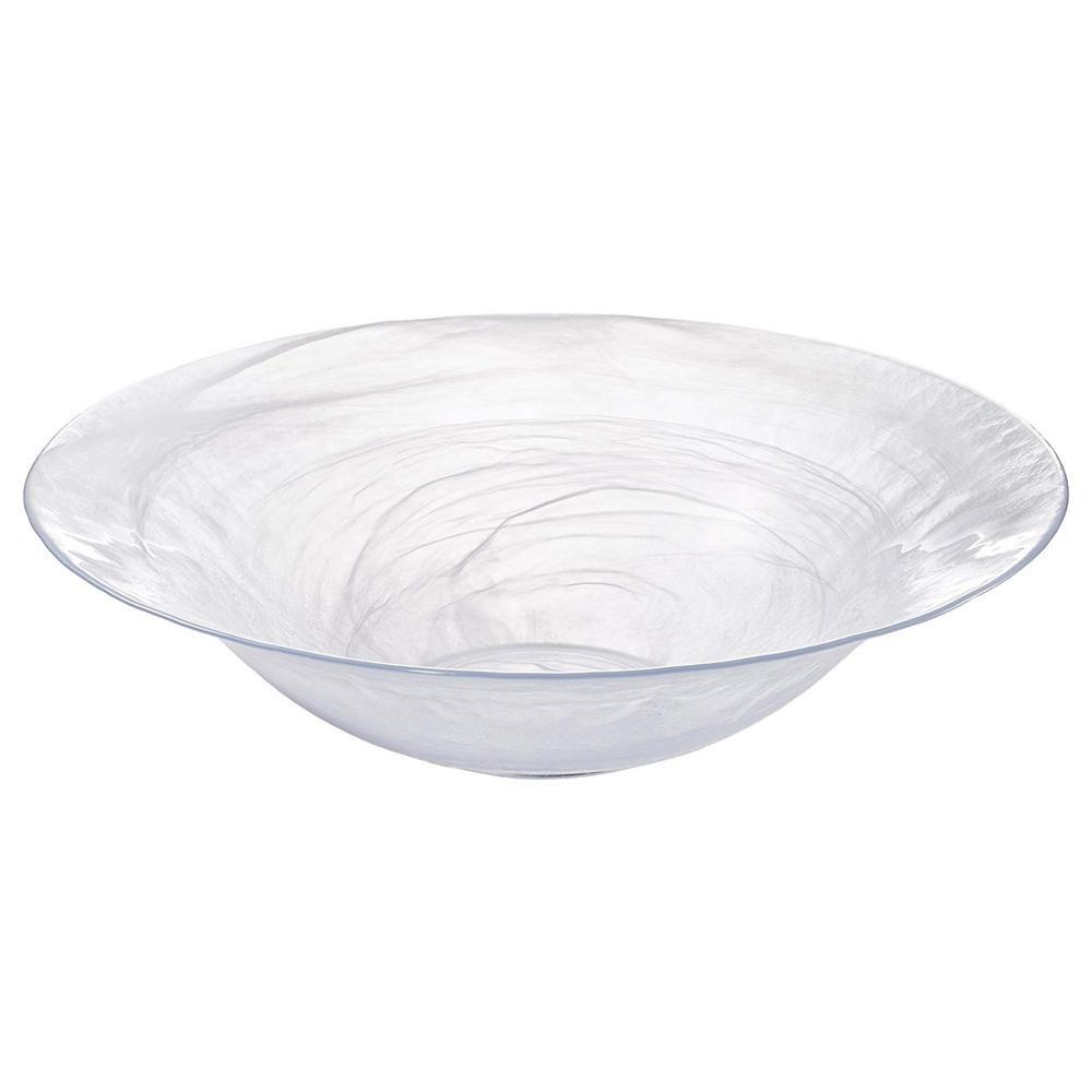 スタイリッシュなガラスの器。 ガラスボウル 大 ガラス皿 大皿 ガラス ボウル おしゃれ デザイン皿