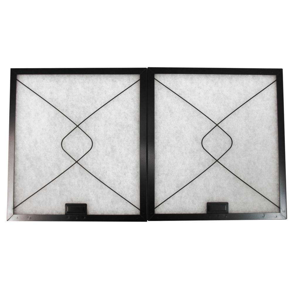 東洋機械 不織布 レンジフードフィルター 深型レンジフード 差し込みタイプ 34.3×29.7 取付用枠2枚+フィルター2枚
