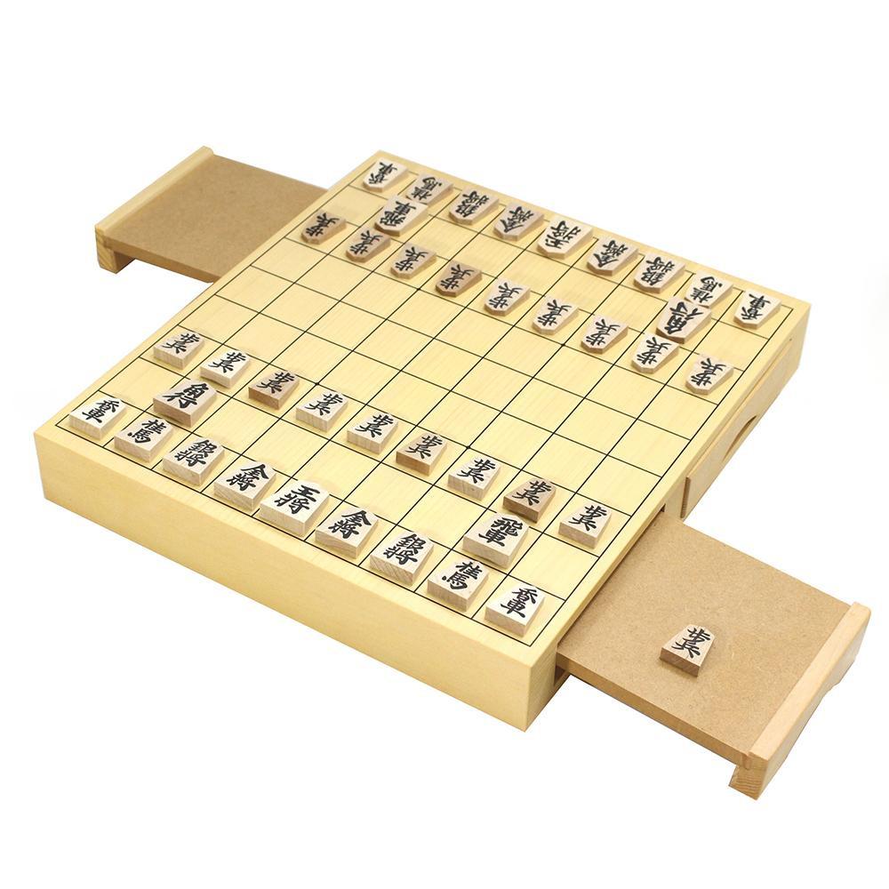 従来品よりも少しコンパクトな将棋セットです。 将棋セット 木製 将棋盤 本格将棋セット 卓上将棋盤セット 木製将棋盤セット