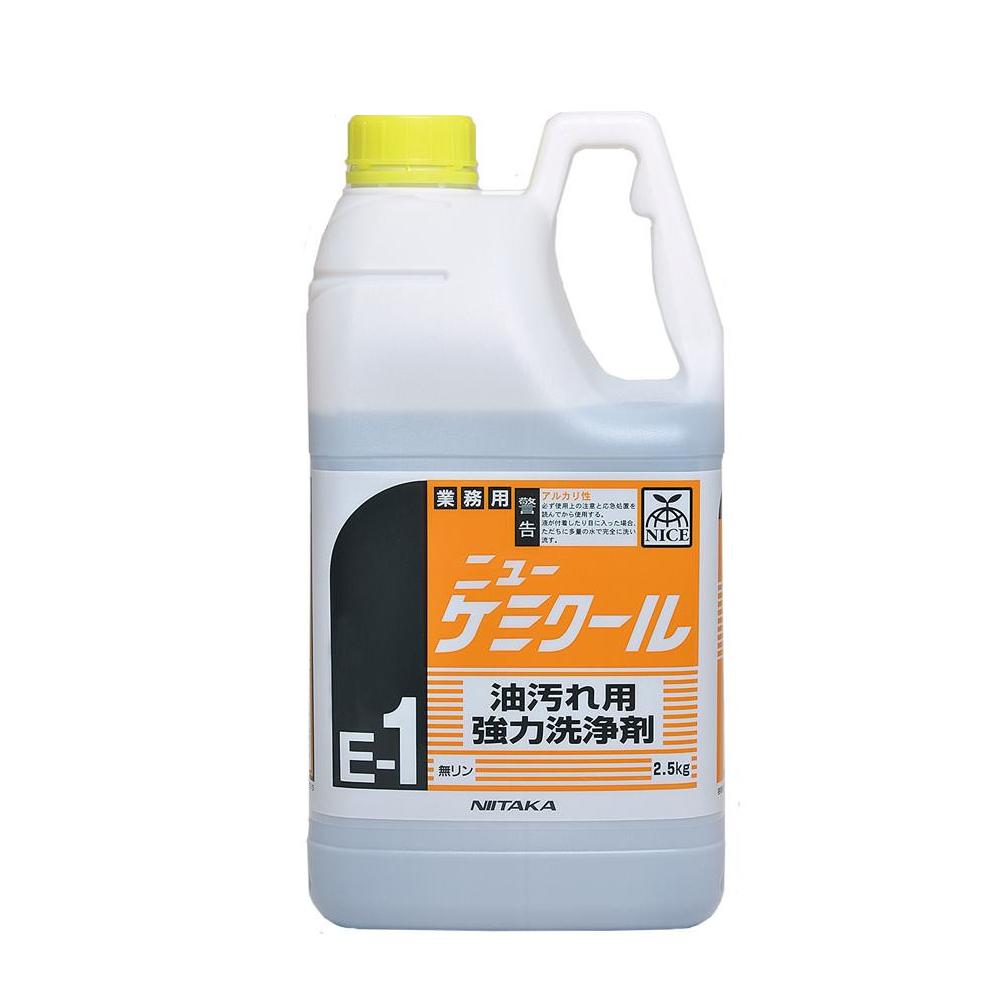 業務用 油汚れ用強力洗浄剤 ニューケミクール E 1 2.5kg 6本 2301