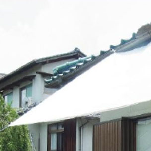萩原工業 遮熱シート スノーテックス クール 約1.8×2.7m 16枚入