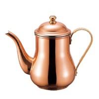 末永くお使いいただけるデザインと機能性☆ 新光堂 COPPER100 純銅 コーヒーポット S-830P